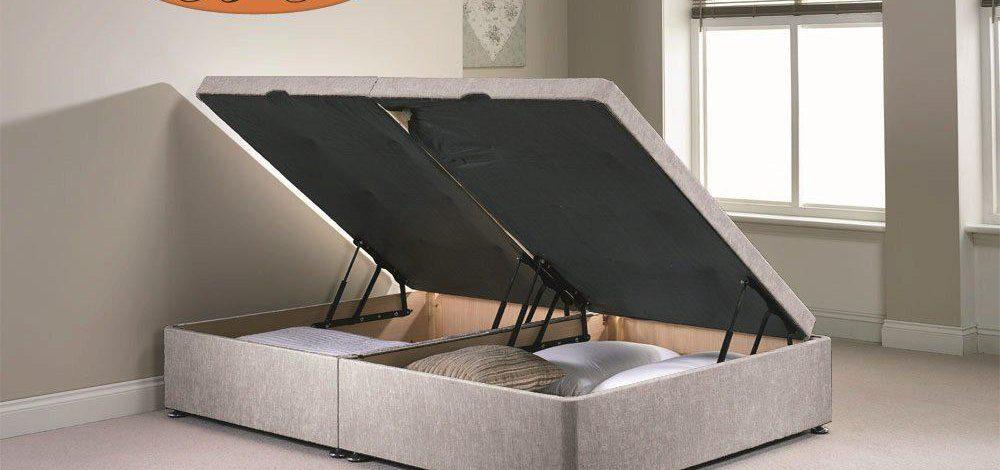 Łóżko podwójne z pojemnikiem – 6 propozycji na praktyczne zagospodarowanie sypialni