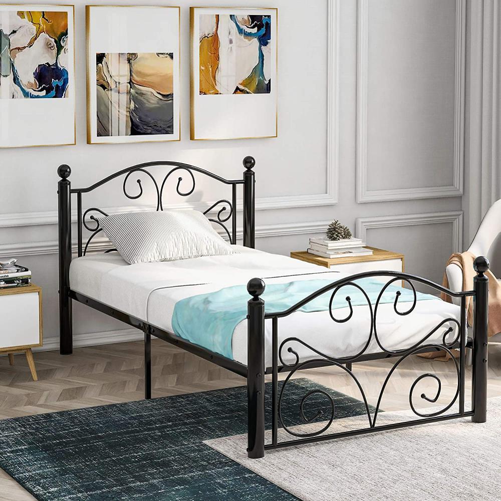 łóżko z wysokim zagłówkiem - Zdjęcie 1