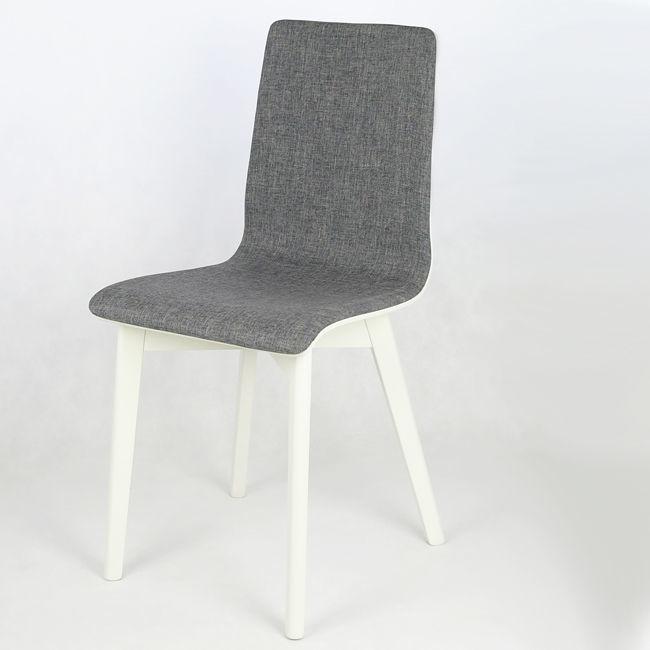 Luka Nowoczesne Biało Szare Krzesło Szary Biały Mojmebelpl