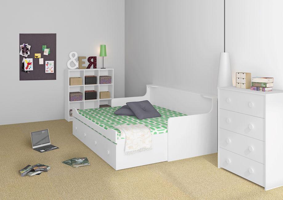 Combee Podwójne Białe łóżko Młodzieżowe