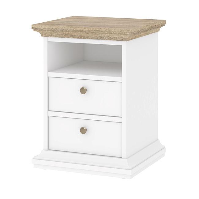 Biały kontenerek pod biurko na wysoki połysk CINDY
